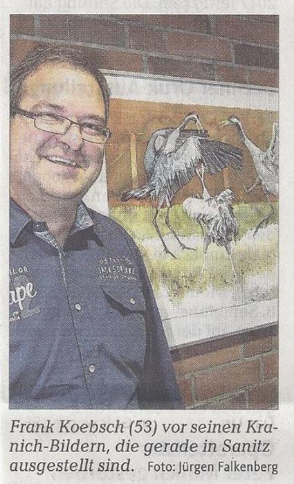 Künstler zeigt seine Kraniche - Ostsee Zeitung 2013 07 31