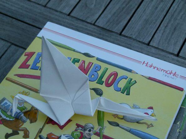 Origami Kraniche aus Hahnemühle Papier (c) Frank Koebsch (1)