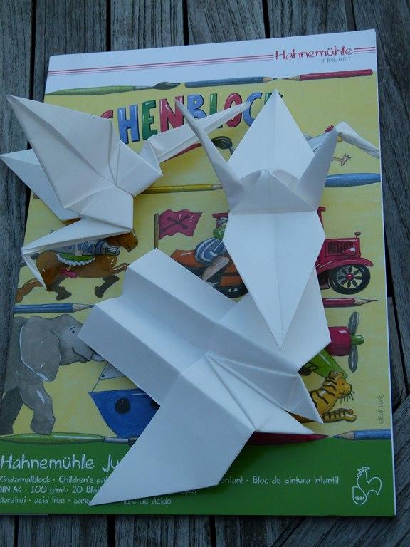Origami Kraniche aus Hahnemühle Papier (c) Frank Koebsch (3)