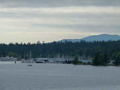 Vancouver - Blick vom Canda Place auf das Burrard Inland (c) Frank Koebsch