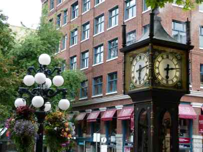 Vancouver - Steam Clock in der Waterstreet Gastowns (c) Frank Koebsch (2)