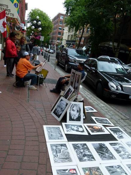 Vancouver - Straßenkünstler in der Waterstreet Gastowns (c) Frank Koebsch (1)