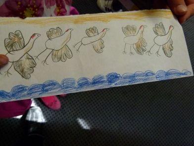 Fliegende Kraniche - besser als meine Aquarelle (c) Frank Koebsch