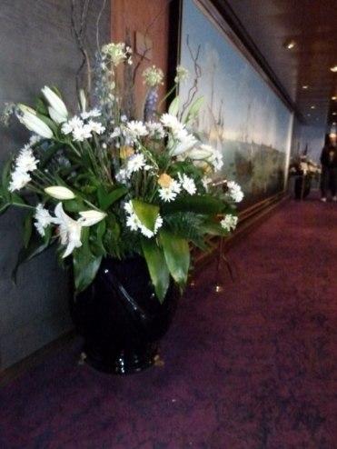 täglich frische Blumen auf der MS Zaandam (c) Frank Koebsch