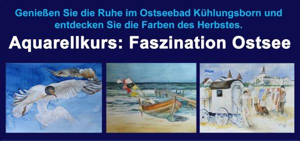 Aquarellkurs Faszination Ostsee im Hotel Polar-Stern