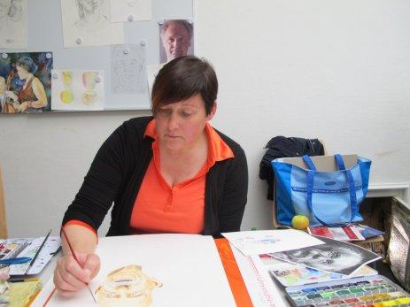 Aquarellkurs Grundlagen Portrait (c) Gertraude Ammoser (2)