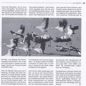 Bilder aus der Kranichland - Zeitschrift atelier 4 - 2013 33