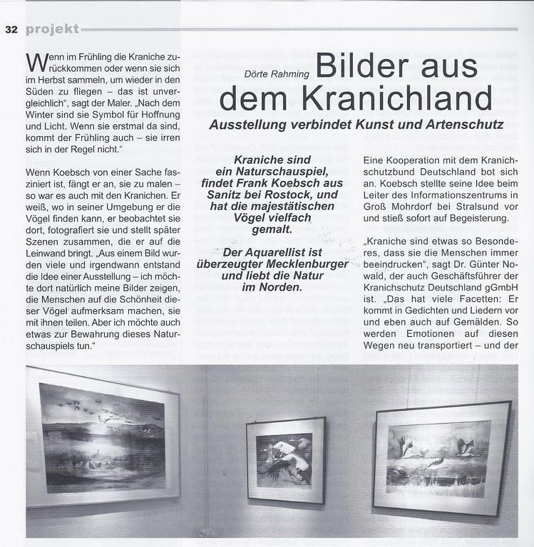 Bilder aus der Kranichland - Zeitschrift atelier 4 - 2013 Seite 32