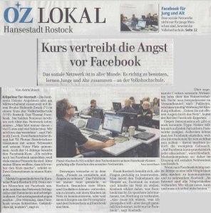 Facebook für Jung und Alt - Die OstseeZeitung berichtet für VHS Kurs von Frank Koebsch
