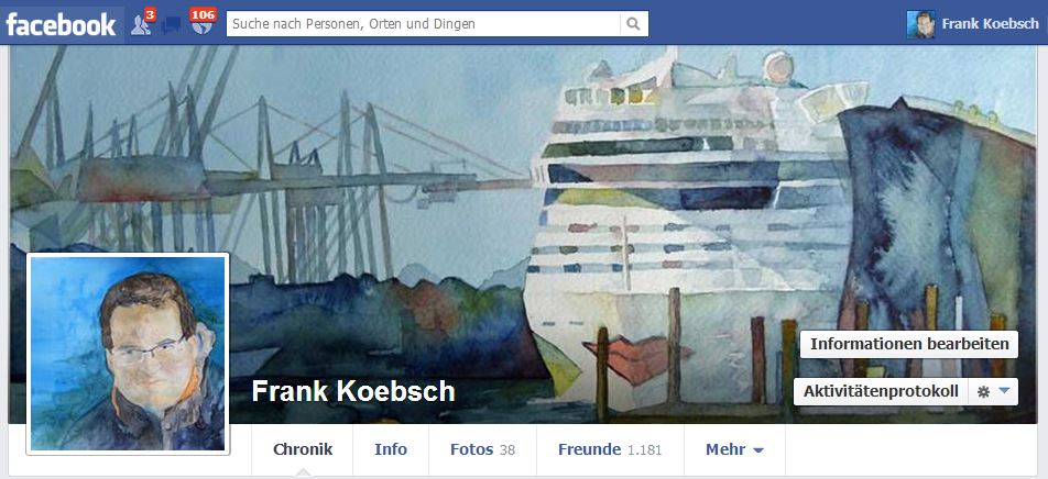 Mein Facebook Profil - Frank Koebsch