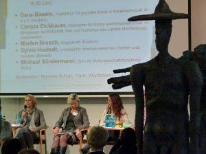Nicht nur alte Hüte, oder Podiumsdiskussion auf der Impulskonferenz Kultur- und Kreativwirtschaft MV (c) Frank Koebsch