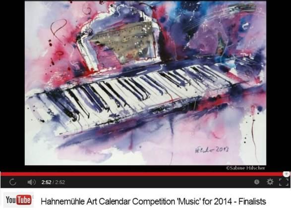 Sabine Hilscher - Finalist im Hahnemühle Kalenderwettbewerb 2014