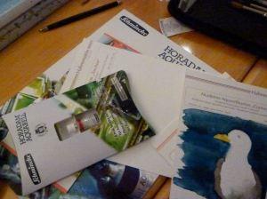 Meine Empfehlung im Aquarellkurs Schmincke Farben und Hahnemühle Papier (c) Frank Koebsch