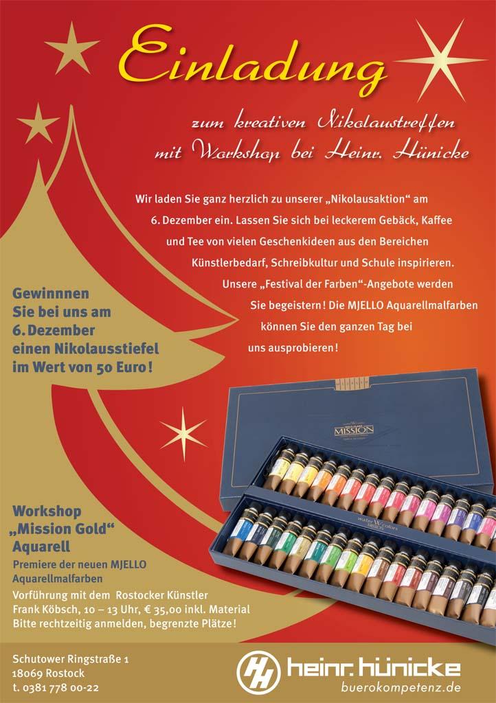 Hünicke Rostock nikolaustreffen bei hünicke rostock mit einem aquarell workshop
