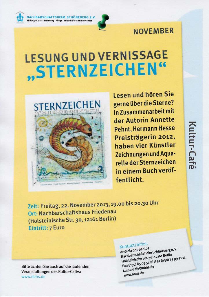 Sternzeichenausstellung im Nachbarschaftsheim Schöneberg e.V. in Berlin