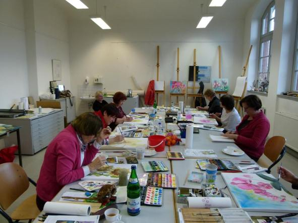 Workshop Aquarell auf Leinwand (c) Frank Koebsch (1)