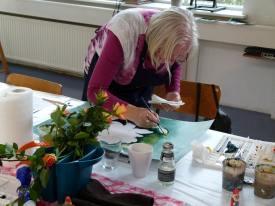 Hünicke Rostock aquarellkurs und vorstellung der mijello aquarellfarben in rostock