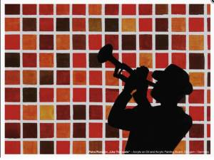 Der Hahnemühle Kunst-Kalender 2014 im Zeichen der Musik - April - Petra Romahn