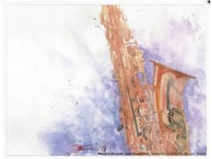 Der Hahnemühle Kunst-Kalender 2014 im Zeichen der Musik - August - Matusz Kielczynski