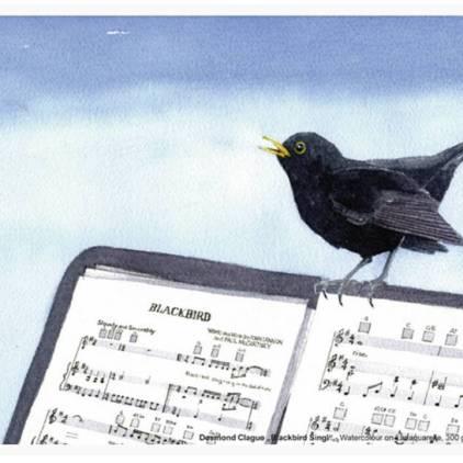 Der Hahnemühle Kunst-Kalender 2014 im Zeichen der Musik - Juli - Desmond Clague