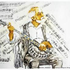 Der Hahnemühle Kunst-Kalender 2014 im Zeichen der Musik - Juni - Claudia Meinicke