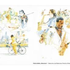 Der Hahnemühle Kunst-Kalender 2014 im Zeichen der Musik - Mai - Patrice Baffou