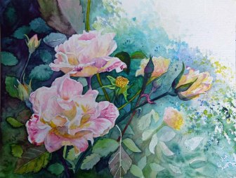 Rosen verbreiten Freude (c) Aquarell von Frank Koebsch