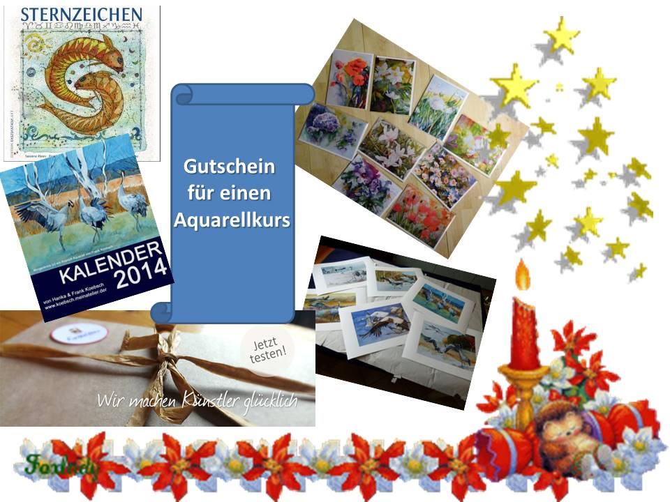 Weihnachtsgeschenke für Aquarellliebhaber (c) Frank Koebsch