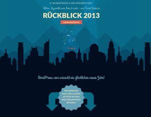 Wordpress Jahresrückblick 2013 auf  frankkoebsch.wordpress.com