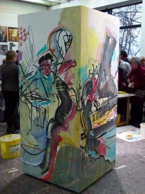 Jazz von Feliks Büttner auf einem Quader (c) Frank Koebsch (2)