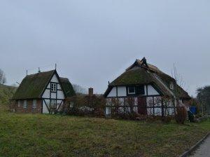 reetgedeckte Häuser in Gager auf Rügen (c) Frank Koebsch