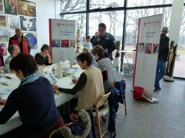 Aquarellkurs mit Frank Koebsch in der Kunsthalle Rostock im Rahmen Rostock kreativ (1)