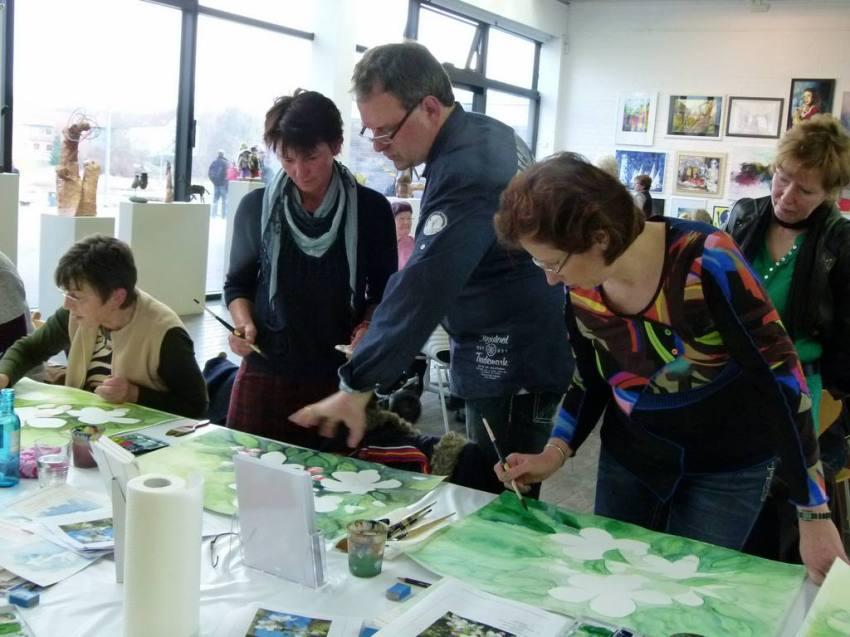 Aquarellkurs mit Frank Koebsch in der Kunsthalle Rostock im Rahmen Rostock kreativ (10)