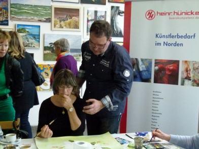 Aquarellkurs mit Frank Koebsch in der Kunsthalle Rostock im Rahmen Rostock kreativ (7)