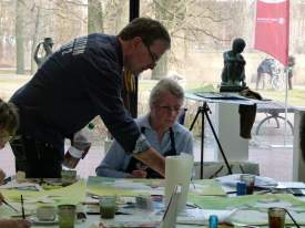 Aquarellkurs mit Frank Koebsch in der Kunsthalle Rostock im Rahmen Rostock kreativ (8)