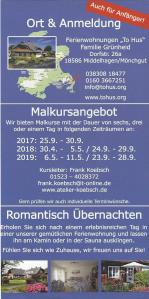 Flyer Malreise Faszination Rügen 2017 - 2019 RS