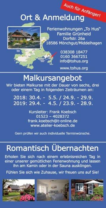 Flyer Malreise Faszination Rügen 2018 - 2019