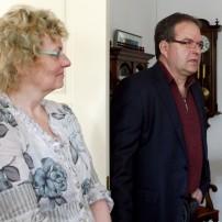 Hanka und Frank Koebsch bei der Vernissage der Ausstellung - Frühling im Land (c) Bert Preikschat (2)