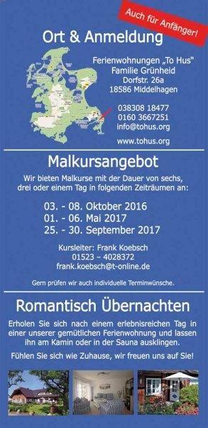 Malreise Faszinantion Rügen 2016 und 2017