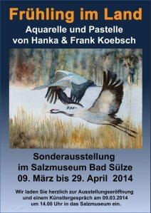 Plakat für die Ausstellung von Hanka und Frank Koebsch in Bad Sülze