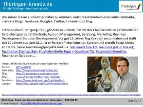 Workshop »Kunst und Kommunikation im Social Web«
