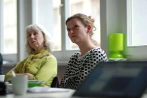 Ann Friedel und Sibylle Reichel im Workshop - Kunst und Kommunikation im Social WEB (c) Boris A. Knop