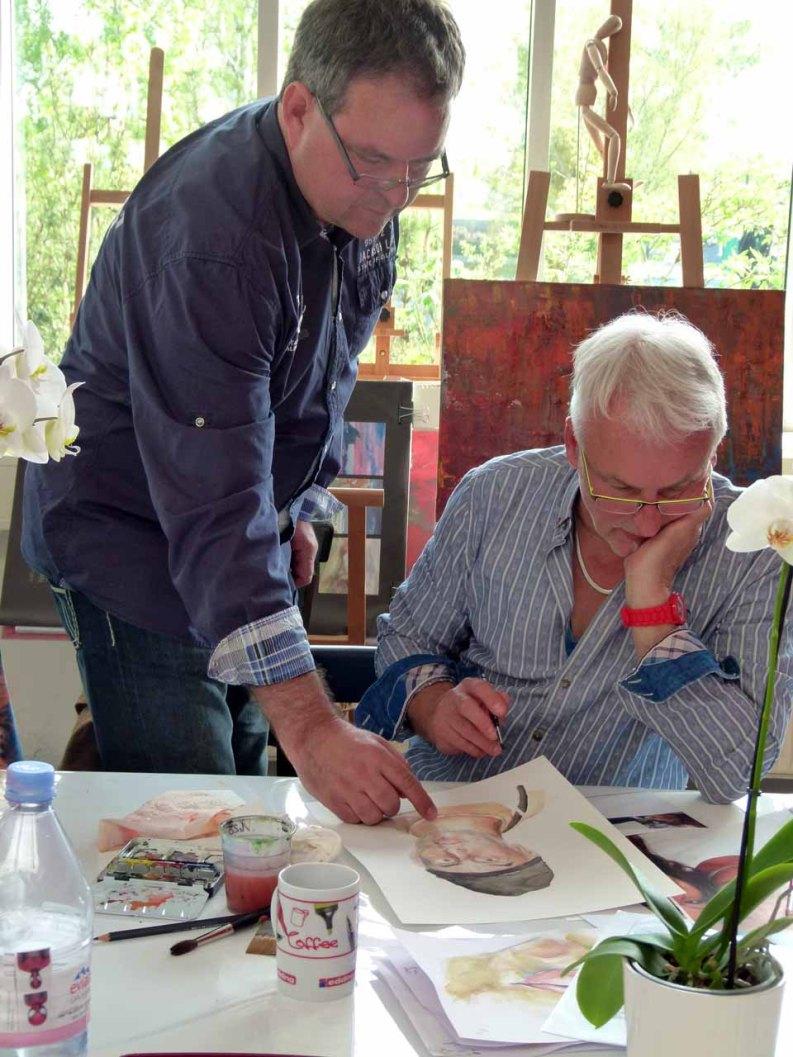 Aquarellkurs Grundlagen Portrait mit Frank Koebsch (3)