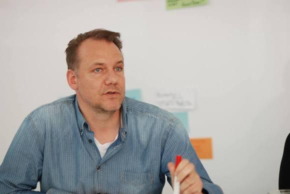 Dirk Schütz im Workshop - Kunst und Kommunikation im Social WEB (c) Boris A. Knop