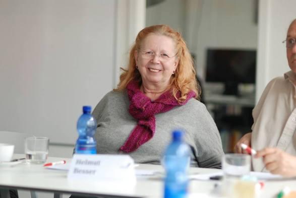 Dr. Monika Besser im Workshop - Kunst und Kommunikation im Social WEB (c) Boris A. Knop