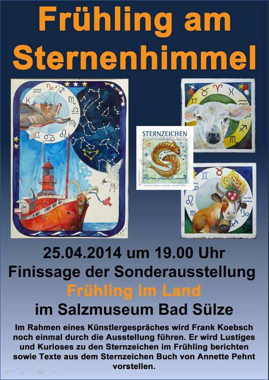 Einladung zur Finissage Frühling am Sternenhimmel (c) Frank Koebsch