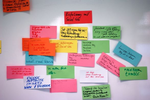 Erfahrungen der Teilnehmer des Workshops - Kunst und Kommunikation im Social WEB (c) Boris A. Knop