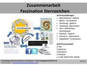 Ergebnisse der Zusammenarbeit im Projekt Faszination Sternzeichen (c) Frank Koebsch