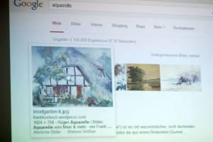 Google muss den Künstler mit seinem Produkt finden nicht mit dem Namen - Workshop - Kunst und Kommunikation im Social WEB (c) Boris A. Knop