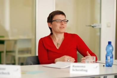 Ramona Scheiding im Workshop - Kunst und Kommunikation im Social WEB (c) Boris A. Knop
